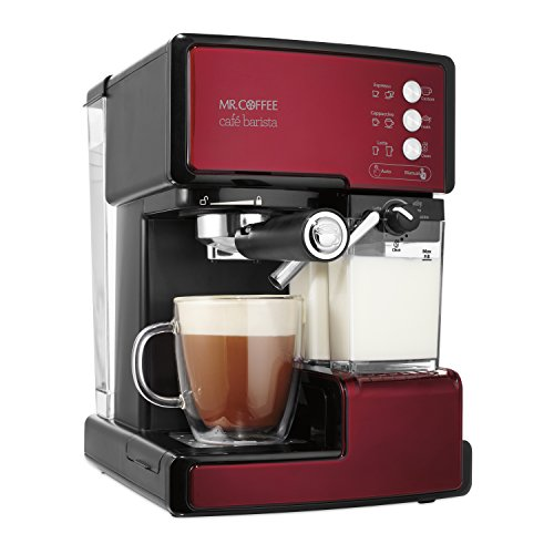 mr coffee cafe barista espresso and cappuccino maker red import it all. Black Bedroom Furniture Sets. Home Design Ideas