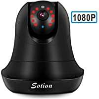 SOTION Internet WiFi Wireless Network IP Security Surveillance Video Camera System, Baby and Pet Monitor with Pan and Tilt, Two Way Audio & Night Vision (1080P)