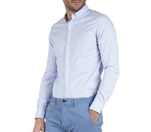 Camicia Armani Jeans Riga Azzurro