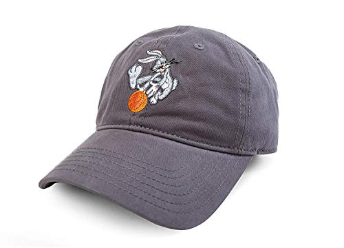 Warner Bros. Men's Looney Tunes Bugs Bunny Basketball Baseball Cap, Grey, One Size
