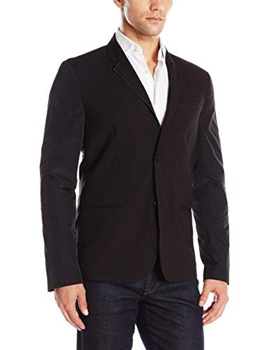 Kenneth Cole REACTION Men's Two Button Slim Fit Sport Coat, Black Combo, X-Large -