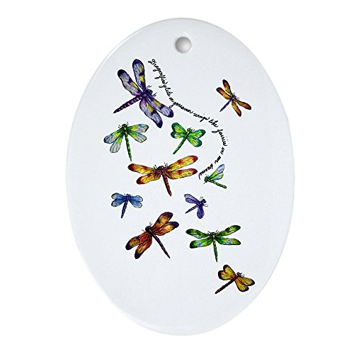 Ornament (Oval) Dragonflies Glide on Gossamer Wings (Ornament Dragonfly Oval)