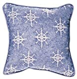 Even Snowmen Get The Blues Snowflake Holiday Tapestry Toss Pillow