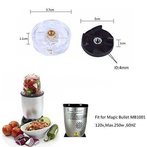Base Gear for Magic Bullet Blender 250W with Blade Gear Replacement Part for Magic Bullet MB1001 8 pcs