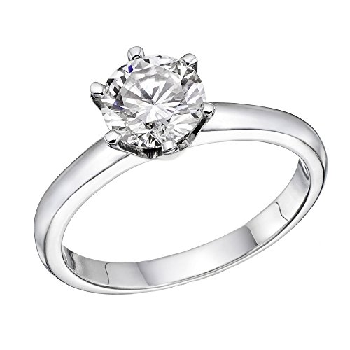 Moissanite Forever One Engagement Ring in 14k Gold 6.50MM D E F VVS (Equivalent 1.00CT Diamond Weight)