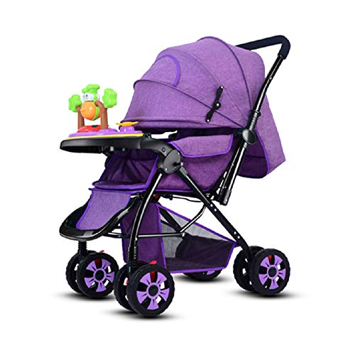 HRD Reversible Baby Stroller, can sit/can Lie Shockproof Baby Pushchair, All Terrain, City/Travel Buggy, with Music…