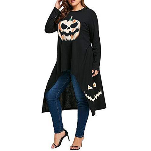 Clearance Halloween ! JSPOYOU Halloween Women High Low Hem Hooded Pumpkin Print Cocktail Party Swing Dress by JSPOYOU (Image #2)