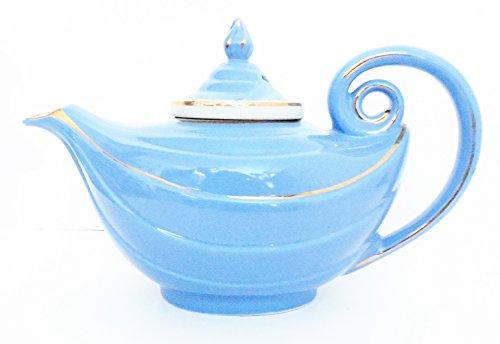 Hall Vintage Tea Pot Aladdin Style 6 Cup Ceramic Light Blue With Diffuser #06.6.9R