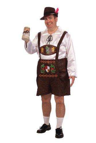 Rubie's Costume Adult Full Cut Bavarian Guy Costume, Brown, 2X -