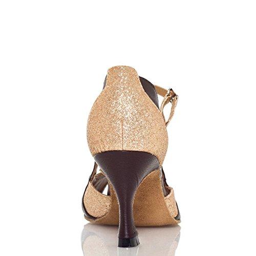 Miyoopark 7 Tanzschuhe 5cm heel Gold Damen RnB1wRrqZ