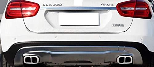 Accessori AMG LOOK MB GLA 2 pezzi Marmitta Con nastro biadesivo RESISTENTE ALCALORE 1 sinistro e 1 destro deflettore di scarico tubo di scarico