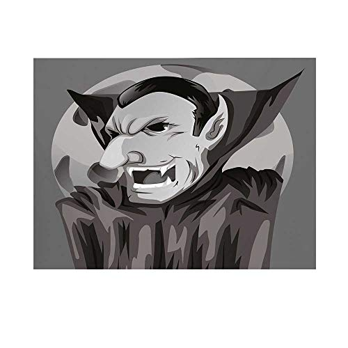Vampire Photography Background,Cartoon Style Count Dracula Angry Look Evil Expression Gothic Horror Monster Decorative Backdrop for Studio,10x10ft]()
