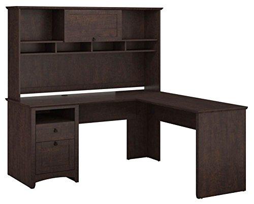 Buena Vista L Shaped Desk with Hutch in Madison Cherry