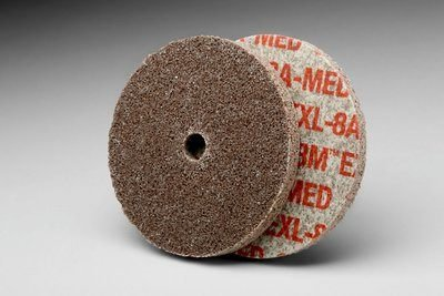 3M (XL-UW) EXL Unitized Wheel, 4 in x 1/4 in x 1/4 in 8A MED [You are purchasing the Min order quantity which is 20 Wheels] by 3M
