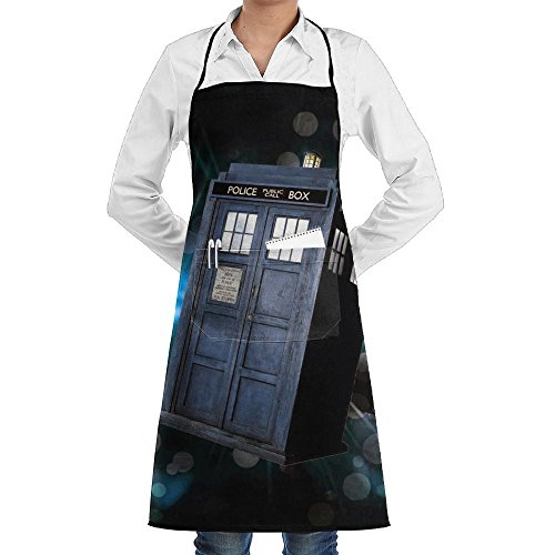 London Phone Booth Starry Sky Fashion Waterproof Durable Apron With Pockets For Women Men Chef]()