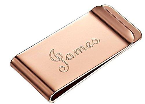 Steel Personalized with Custom Gold Clip Money Rose Visol Stainless Engraving ZEqdwZB