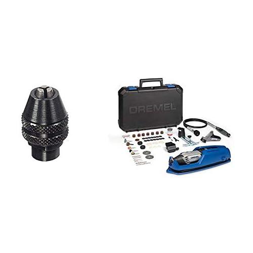 chollos oferta descuentos barato Dremel 4486 Portabrocas de cierre rápido 0 8 mm a 3 4 mm Dremel 4000 4 65 EZ Pack multiherramienta eje flexible cortadora y 65 accesorios 175 W 4 complementos