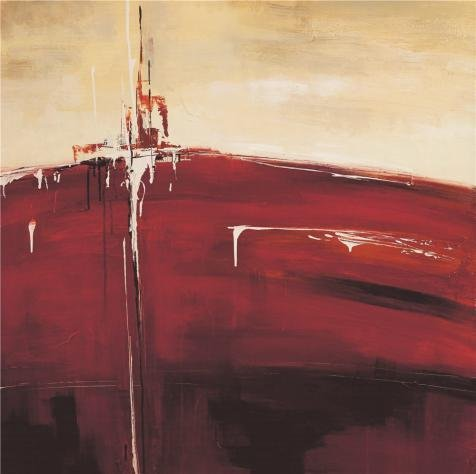 Oil Painting 'Modern Abstract Red', 10 x 10 inch / 25 x 26 cm , on High Definition HD canvas prints is for Gifts And Living Room, Nursery And Powder Room Decoration, fine art