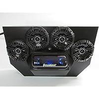 SD 894BBT4B -Polaris RZR 800 & 900 4-seater Stereo System Bluetooth UTV Side by Side (4-5.25 marine speakers)