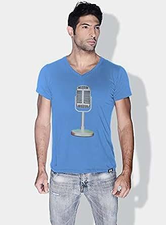 Creo Microphone Retro T-Shirts For Men - Xl, Blue