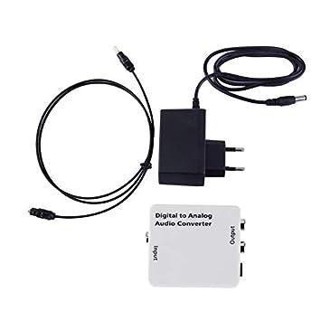 Coaxial óptico Blanco de Toslink de Digitaces al Adaptador análogo del convertidor de señal de Audio