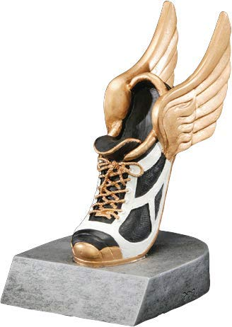 - Track Color Tek Trophy | Winged Shoe Award | 4 Inch Tall - Customize Now - Decade Awards