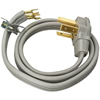Coleman Cable 09124 30-Amp 3-Wire Dryer Power Cord, 4-Foot