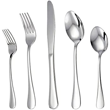 Perfect LIANYU 20 Piece Stainless Steel Flatware Silverware Set, Service For 4,  Mirror Polished