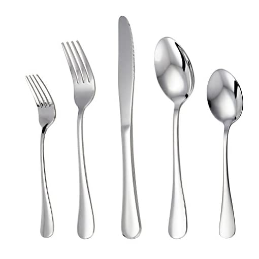 Mirror Finished LIANYU 30-Piece Flatware Silverware Set for 6 Dishwasher Safe Stainless Steel Cutlery Eating Utensils