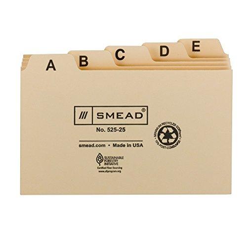 - Smead. Card Guide, Plain 1/5-Cut Tab (A-Z), 5