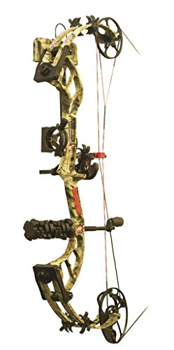 PSE Madness 30 60# Ready to Shoot Compound Bow, Break-Up Infinity, Right