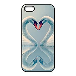 LZHCASE Diy Customized Hard Case Swan for iPhone 5,5S [Pattern-1]
