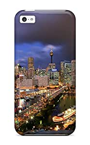 New Fashion Premium Tpu Case Cover For Iphone 5c - Darling Harbour At Night - Sydney Australia