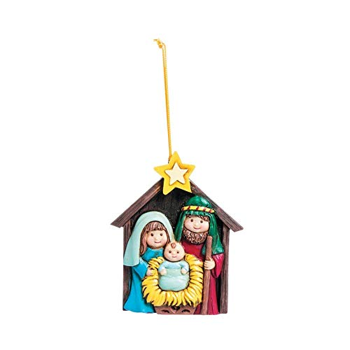 ONE DOZEN (12) Resin NATIVITY Ornaments/3.5