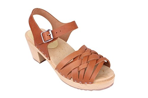Lotta From Stockholm Swedish Clogs Braided Clogs in Wax Tan Leather