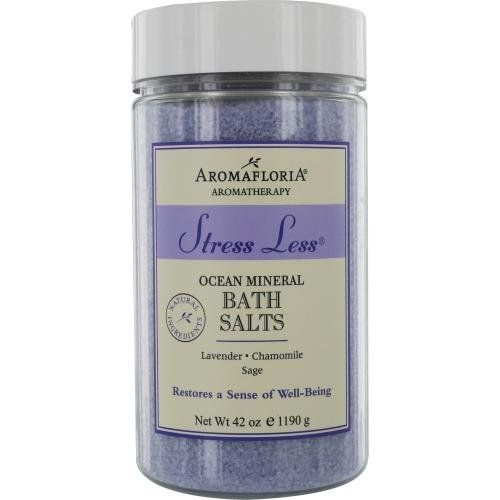 Aromafloria Aromatherapy Collection Stress Less Ocean Mineral Salts, Lavender/Chamomile/Sage, 42.0 Ounce California Fragrance Company 52201