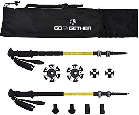 Pack of 2 Poles G2 GO2GETHER Compact Trekking Poles Long Foam Handle