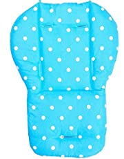 Twoworld Baby Stroller,Car,High Chair Seat Cushion Liner Mat Pad Cover Protector Round dots pattern Breathable Water Resistant Blue