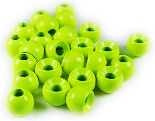 Tungsten Ball Beads (Chartreuse, 5/32