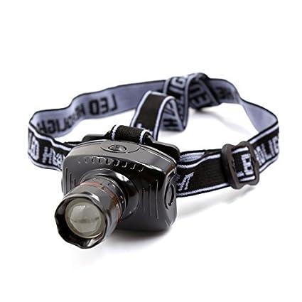eDealMax excursión que acampa elástico Headstrap White LED Zoomable del faro