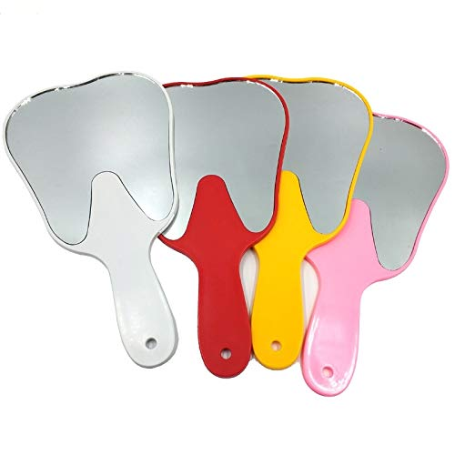 Global-Dental 4 Pcs Handheld Mirror Molar Tooth Shape Mirror for Office -