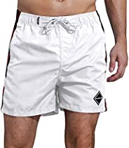 SHEKINI Men's Swim Trunks Quick Dry Slim fit Lightweight Beach Shorts with Poc
