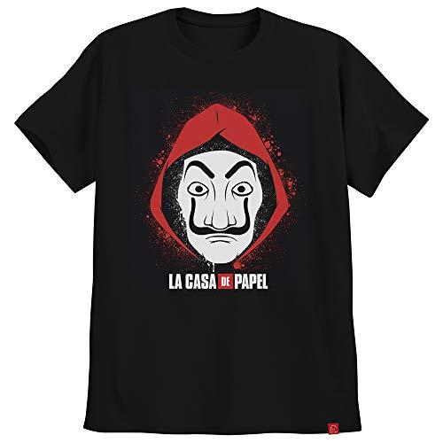 Camiseta La Casa De Papel Camisa Imagem Mascara P