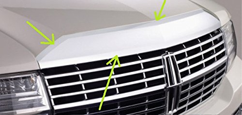 Bezel Trim Front - OEM Factory Stock Genuine 2008 2009 2010 2011 2012 2013 2014 Lincoln Naviagtor Top Grille Grill Chrome Front Hood Applique Bezel Trim Molding