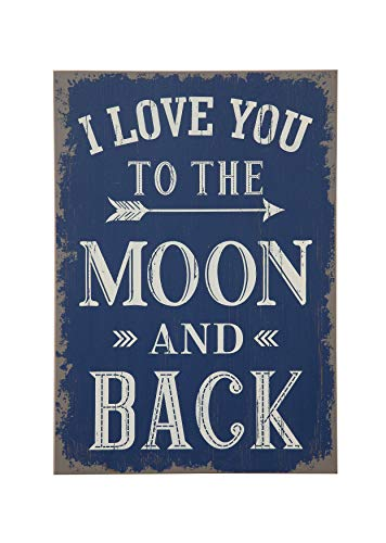 """Creative Co-op """"I Love You to The Moon and Back Wood Wall Decor"""