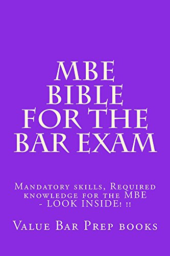 MBE Bible For The Bar Exam A Law School e-book: Every multi-state bar subject Evidence Contracts Property Torts Contstitutiona law Criminal law