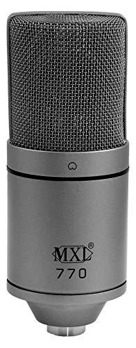 MXL Condenser Microphone, XLR, Gray (770GRAY)