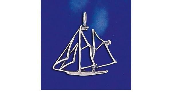 Amazon com: Sterling Silver Schooner Pendant Sailing Pirate Ship