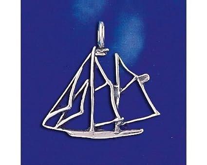 Amazon.com: Colgante de plata de ley con diseño de barco ...
