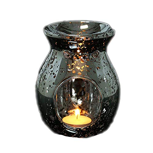 Burner incense burner Incense Burner Handmade Vintage Silver Plated Glass Aromatherapy Essential Oil Furnace Fragrance Lamp Candle Holder Home Decoration Ornaments (size: 1410.5CM) Home decoration cr ()